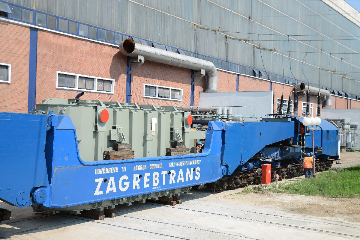 TRANSFORMER FOR THE UNIT A3 ARRIVED FROM ZAGREB
